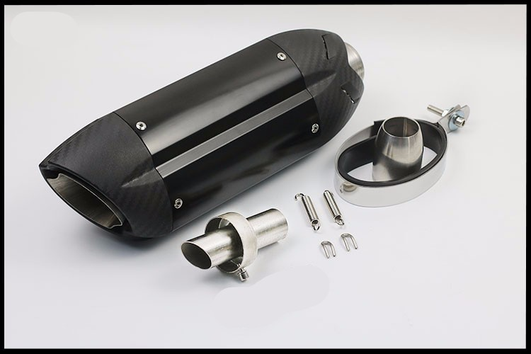 New Motorcycle sports modified MT07 09 for Italian devil MIVV exhaust pipe 36-51mm universal ninjia er6n z1000