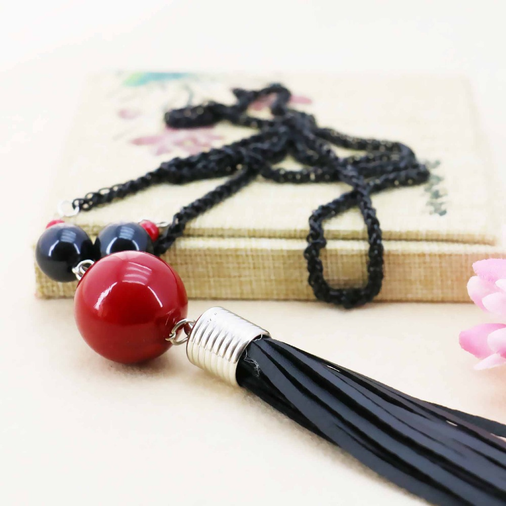 Accessories Series leather Macrame Necklace Choker Sweater Chain Jewelry crafts 18inch making design women Girls Gifts Fashion
