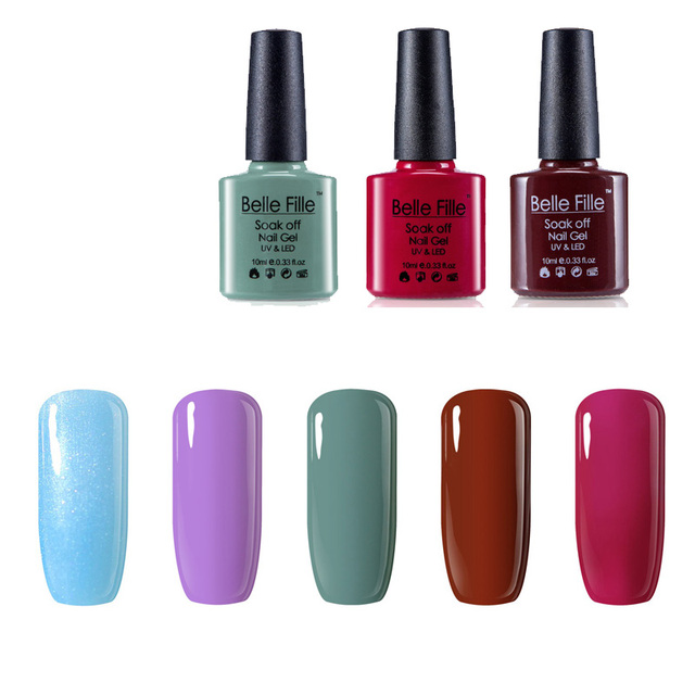Any 20 Colors Uv Gel Polish Belle Fille 10ml Plain Colour Gel Nail