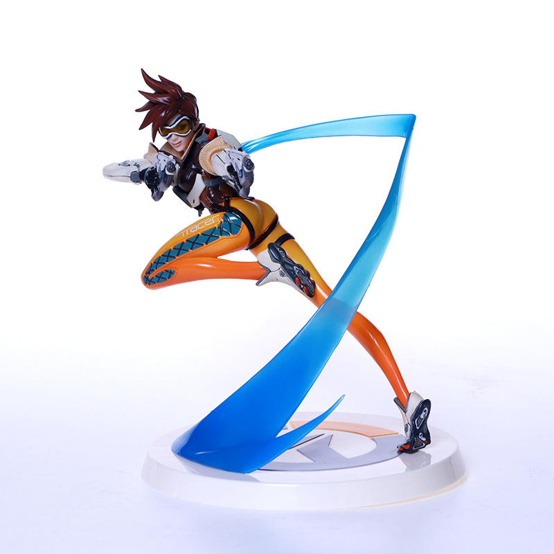 J.G Chen Game Figure Tracer WidowMaker D.VA MEI GENJI HANZO Pharah Symmetra McCree Winston soldier 76 Bastion all characters tracer reaper widowmaker action figure ow game keychain pendant key accessories ltx1