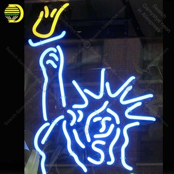Neon Sign Statue of Liberty Neon Bulb sign handcraft restaurant Display Beer neon signboard Decorate Hotel light anuncio luminos