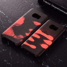 Luxury Physical Thermal Sensor Discoloration Phone Case Soft Frosted Cover for Samsung Galaxy S8 Plus S7 Edge Color Change Shell