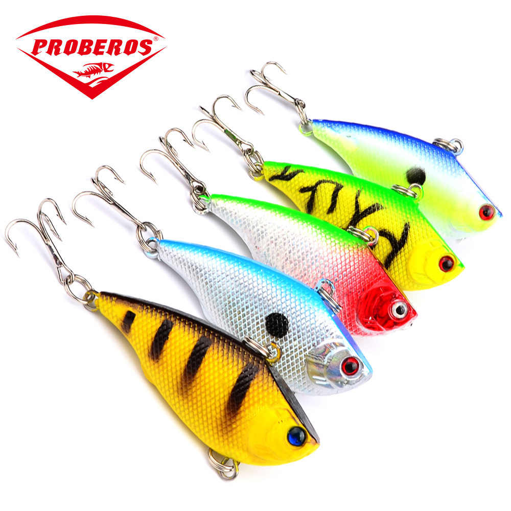 Richiamo di pesca 55mm 7.5g VIB Rattlin Duro Esca Minnow Wobbler Immersione Profonda Affondamento Mare Oceano ABS Esche Artificiali attrezzature di pesca