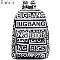 Epoch Coreano Kpop EXO Bigbang Mochila Mulheres Sacos de Moda Saco de Escola saco de Escola Para O Adolescente Meninas G-dragão Rocha XO Mochila