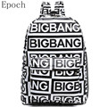 Epoch Korean Kpop EXO School bag Bigbang Backpack Women Bags Fashion School Bag For Teenager Girls G-dragon Rock XO Backpack