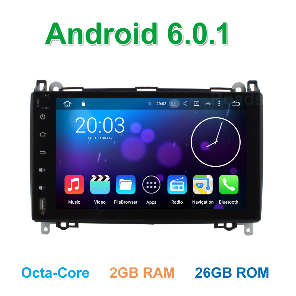 9 font b Android b font 6 0 Octa Core Car DVD For Benz Sprinter W169