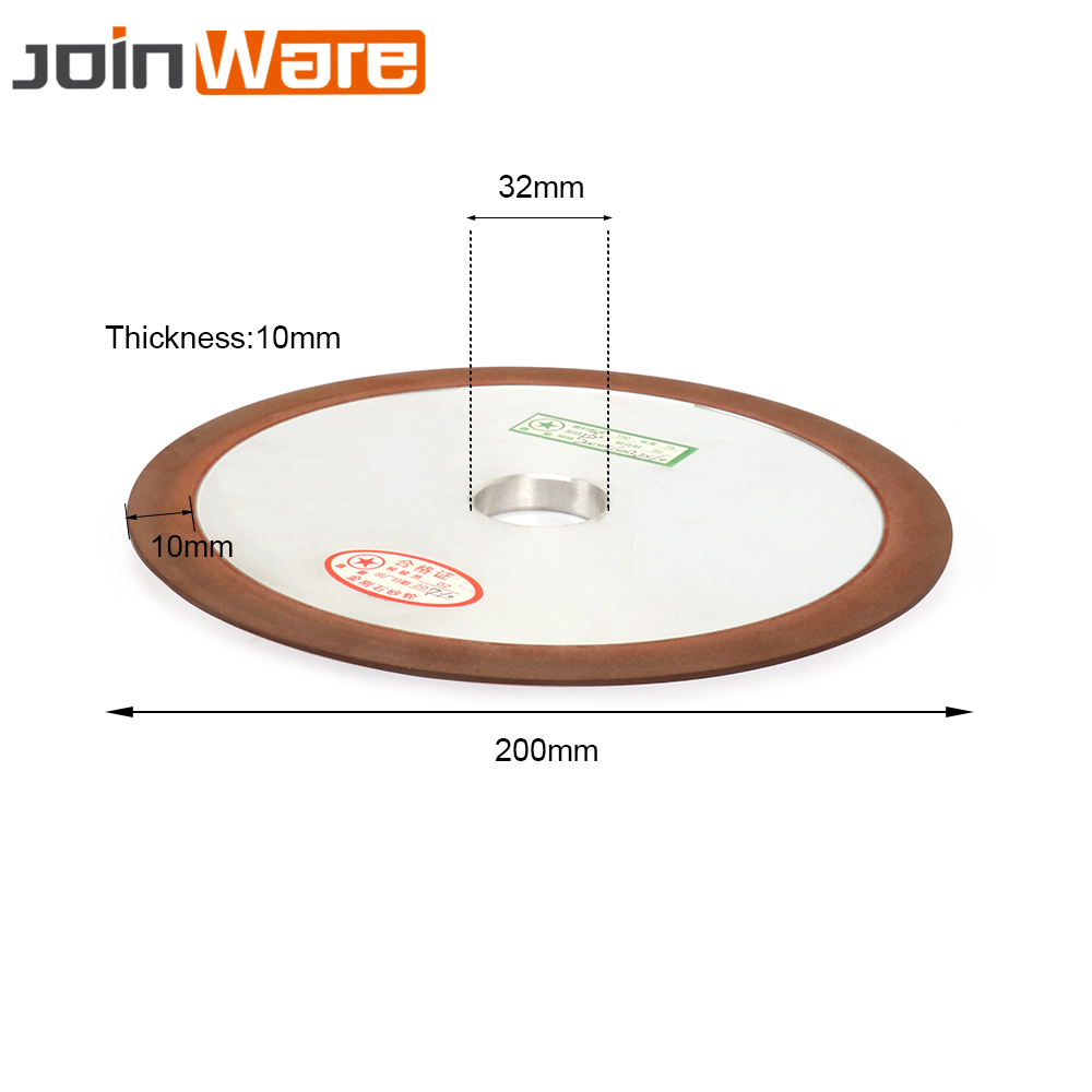 200x32x10x10mm Diamond Grinding Wheel Resin Bond Grinder Disc For Carbide Metal Abrasive Tool 150# 8inch