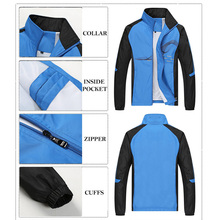 2018 Spring Autumn Running Sets Men Sport Suits Sportswear Set Polyester Fitness Training Warm Tracksuit Zip Pocket Jogging Suit
