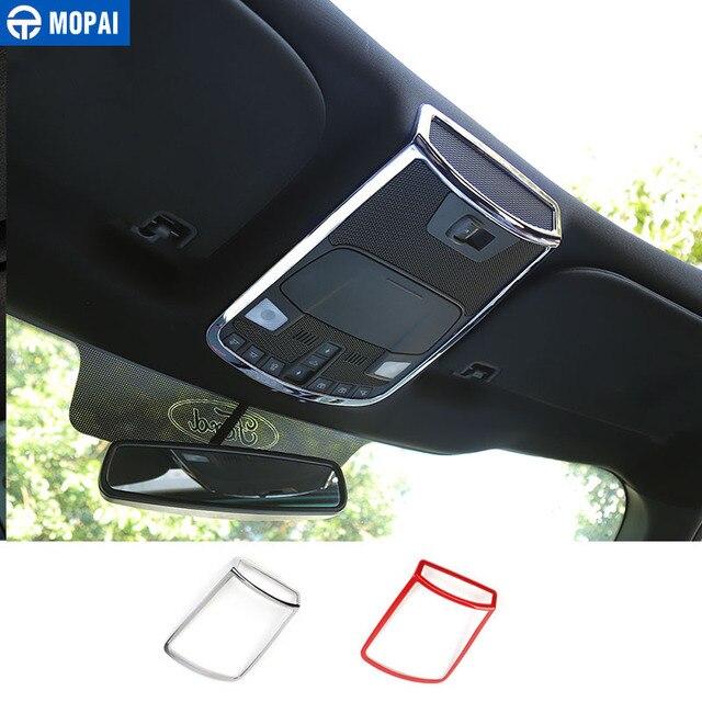Mopai abs luz de leitura do carro lâmpada decoração quadro capa anel interior adesivos acessórios para ford f150 2015 up estilo do carro