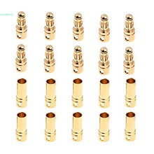 New 10 Pairs 3 5mm 0 1 Copper Bullet Banana Plug Connectors Male Female for font