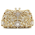 Европейский стиль 2016 новый кошелек сцепления вечерние сумки женские алмаз полые серебряный кристалл свадьбы невеста свадьба Cikou Сумка
