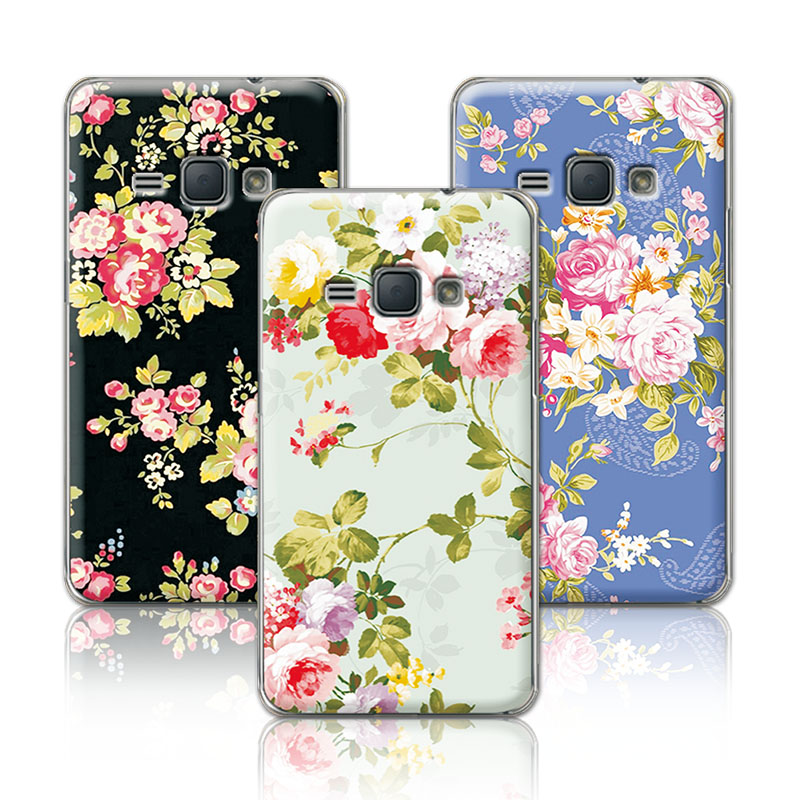 Luxury Floral Painted Case For Samsung Galaxy J1 2016 J120F J120 Case Art printed Flower For Samsung J1 2016+Free Gift
