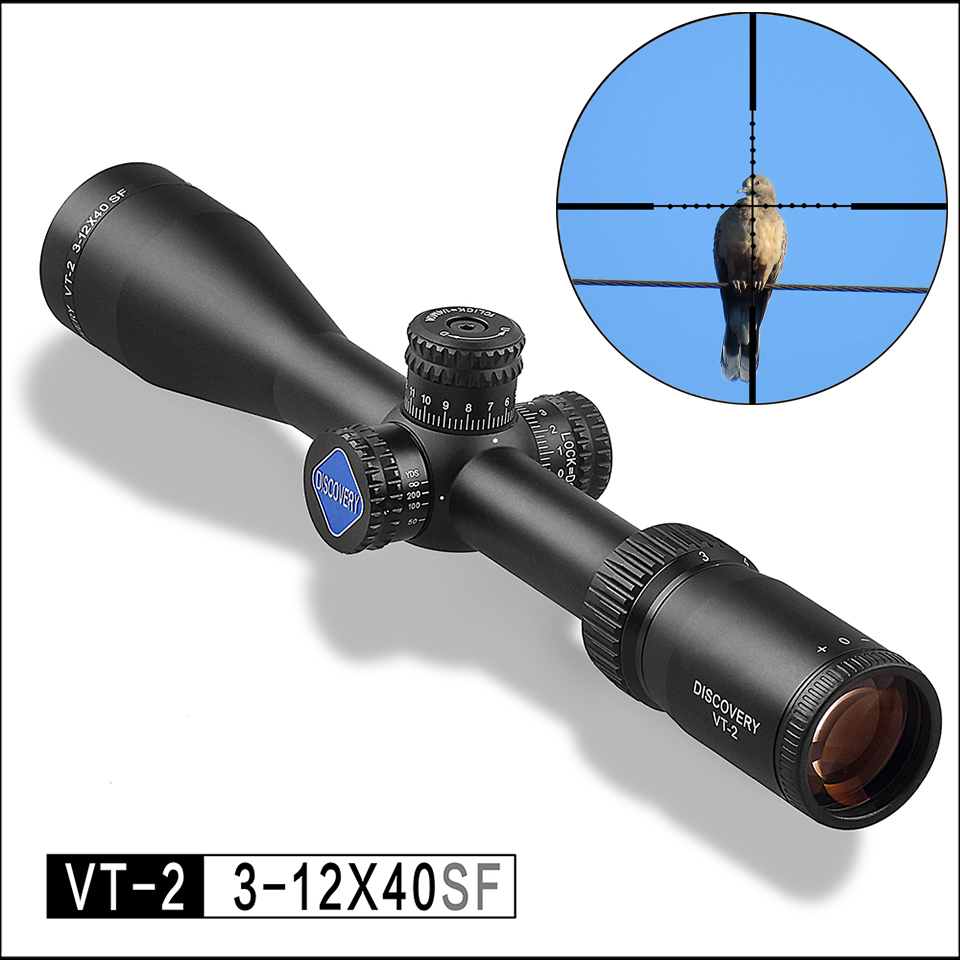 Hot New Brand Discovery VT-2 3-12X40S Alloy Riflescopes Optical Sight For Hunting And Collimator Sight Aim Optics Rifle Scope new arrival and hot sale tactical vt 2 4 16x50mm ir side focus rifle scope for hunting bwr 140