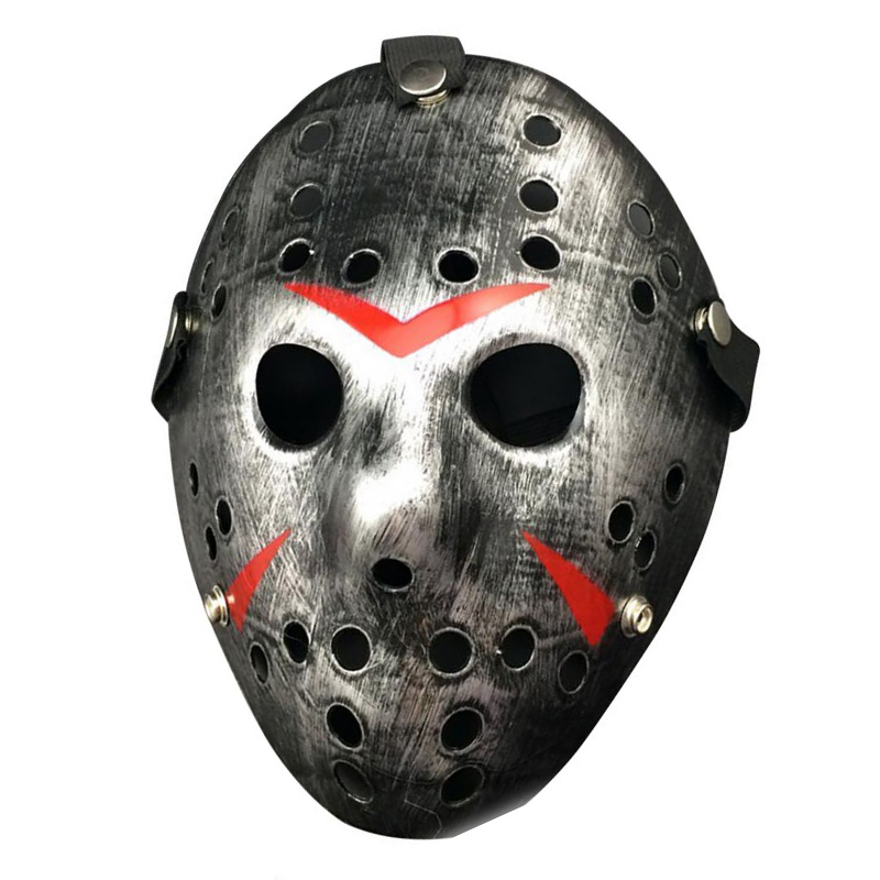 Party Cosplay Vintage Halloween Masker Jason Freddy Hockey Mask Delicated Tjock PVC Safety Festival Party Supplies Halloween