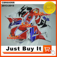 100 Fit For HONDA CBR600RR 2013 2014 2015 OEM Red HRC MOTORCYCLE FAIRING KIT Protective Cover