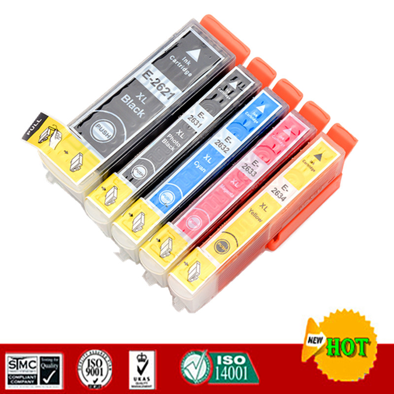 Compatible Ink Cartridge For Epson 26XL T2621 27XL T2730 For Epson XP-510 XP-520 XP-600 XP-605 XP-610 XP-615 XP-620 XP-625