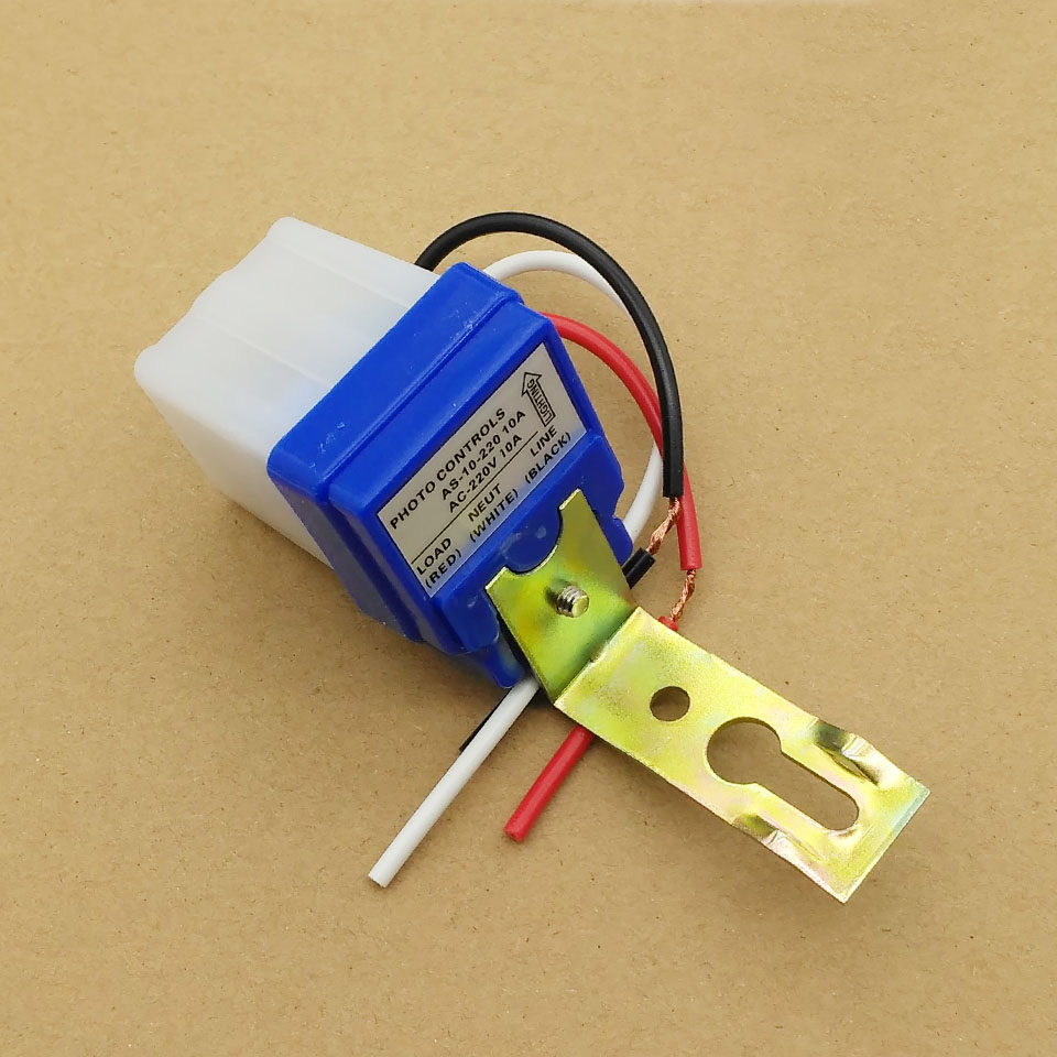 AS-10 Automatic Auto On Off Photocell Street Light Switch DC AC 220V 50-60Hz 10A Photo Control Photoswitch Sensor Switch