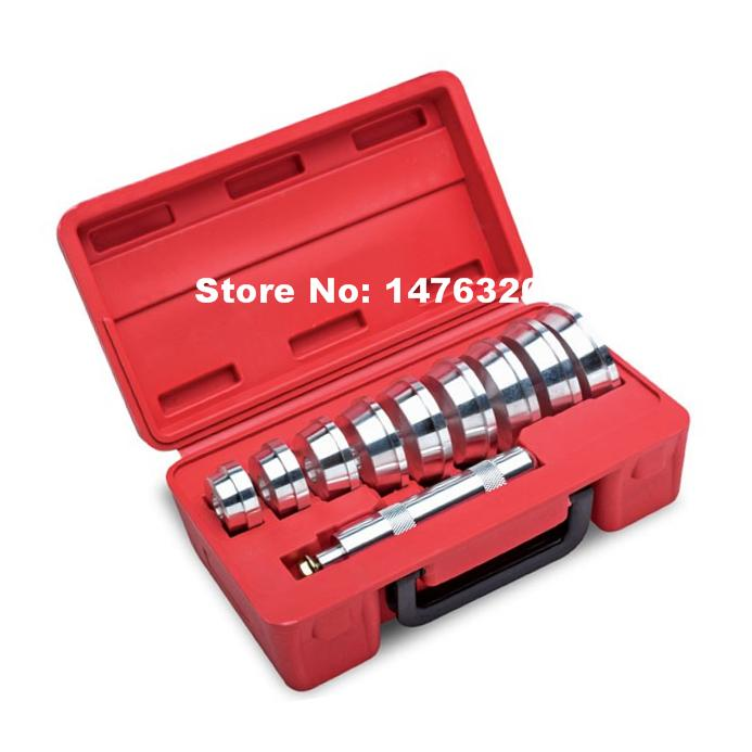 10PCS Universal Automotive Bearing Race Seal Driver Removal Tool Car Bearing Races Replacement Repair Garage Tools AT2065 10pc bearing race seal driver tool master set with storage case wheel axle new