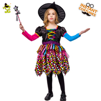 Girl S Gothic Carnaval Fancy Evil Witch Hat Child Kids Costumes Cosplay Girls Halloween Witch Costume