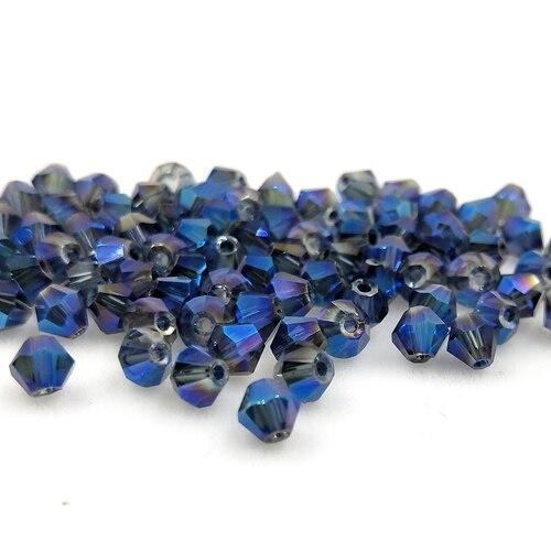 Новинка 5301 4 мм 1000 шт стеклянные кристаллы бусины биконус граненый свободный разделитель бисер бусины Fantas AB DIY Изготовление ювелирных изделий U выбор цвета - Цвет: 213