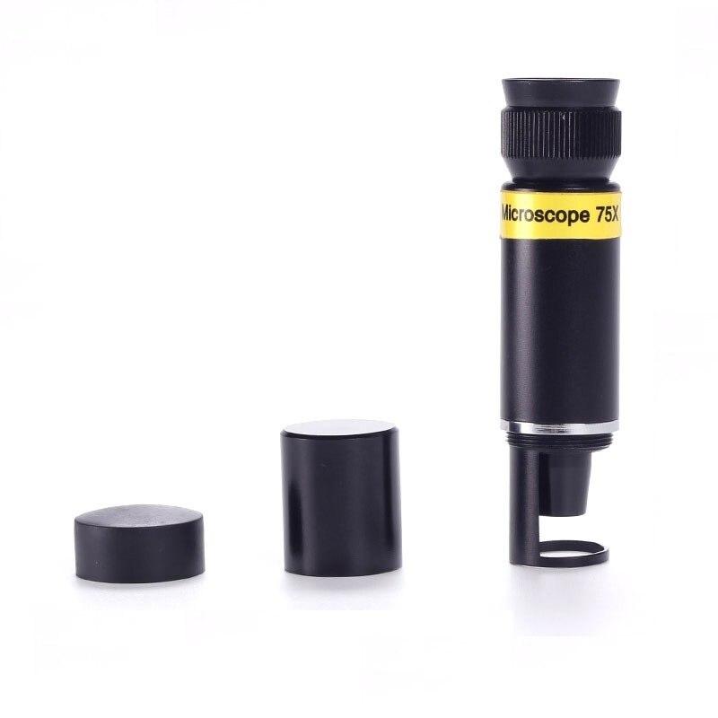 75x Pocket Mini Handheld Jewelry Microscope 75x Magnifier Monocular Jewelery Loupe