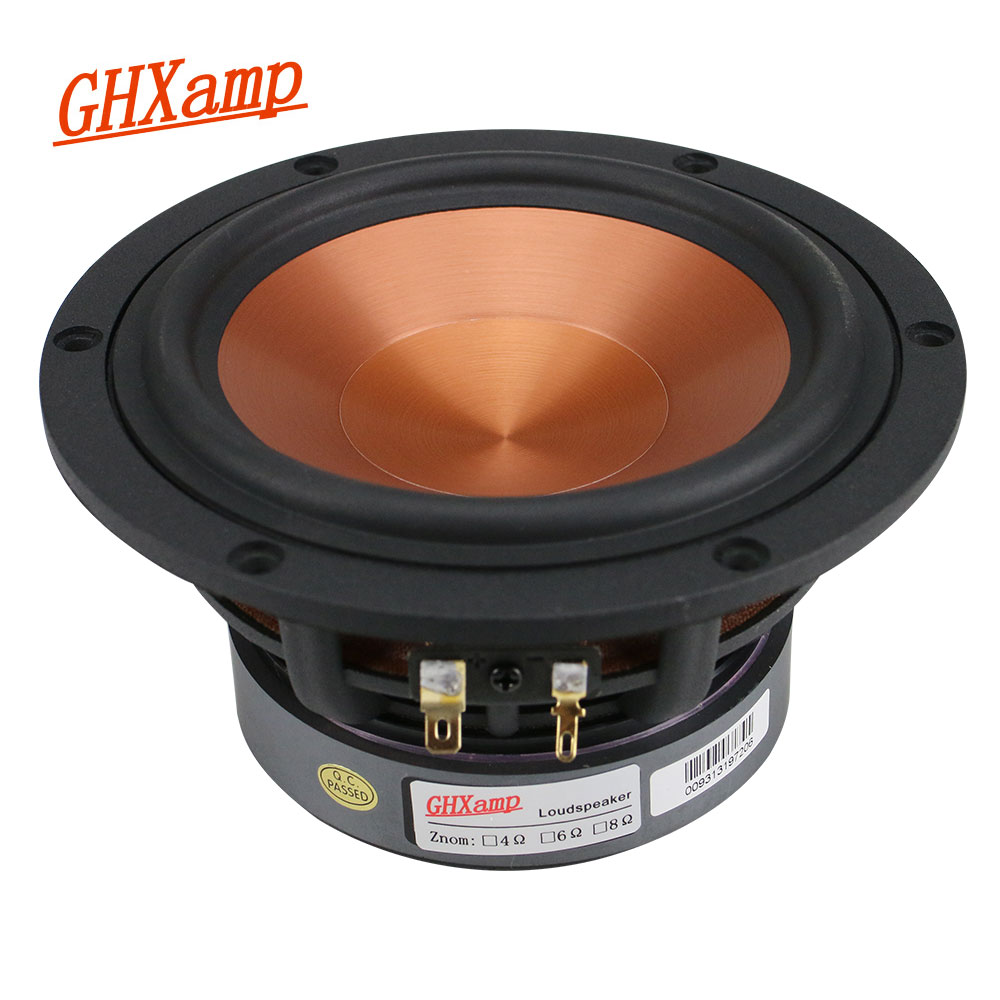 GHXAMP 5 25 inch Mid Bass Speaker Unit 4Ohm 40W Home Theater Hifi Midrange Woofer Loudspeaker