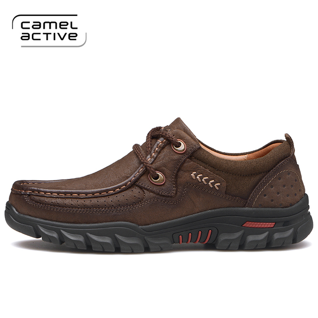 Camel Active Brand Waterproof Casual Men Shoes Cow Leather 2017 Fashion Top  Quality High Male Working