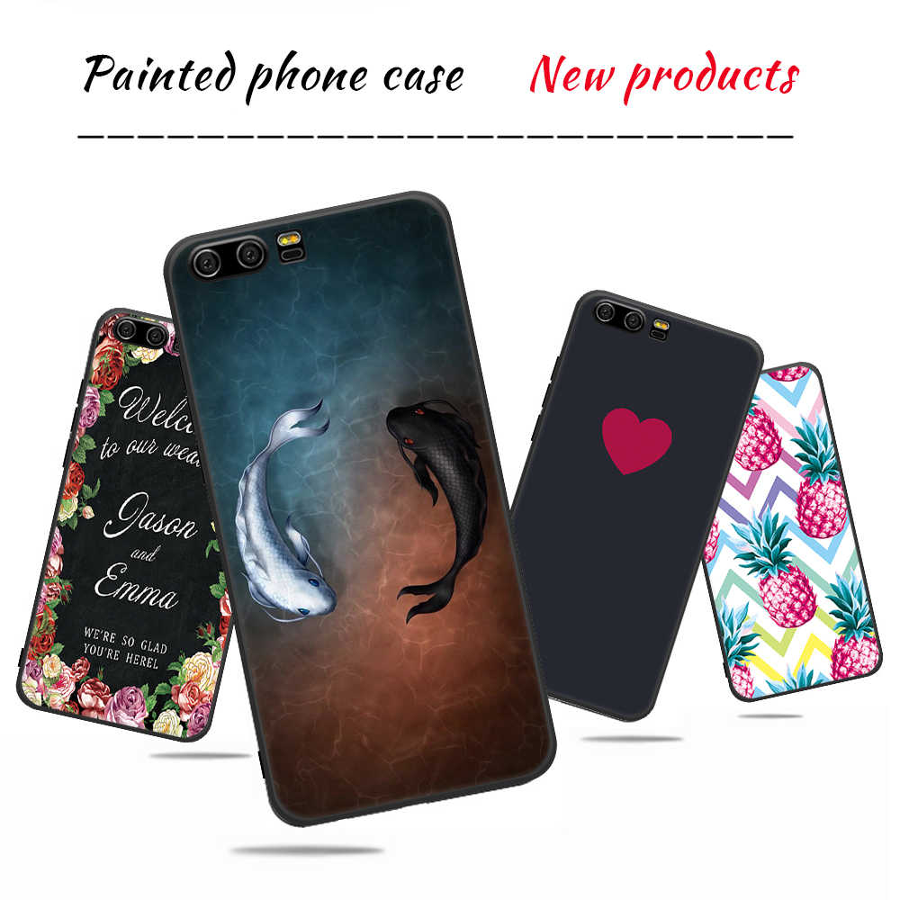 Fashion Pattern Case For Huawei Mate 10 Lite P20 Pro Nova 2i 3e P10 P8 Lite P9 2017 Y9 2018 Matte Cover For Honor 9 8 Lite 9i
