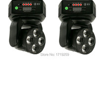 2pcs/lot Mini LED Wash Moving Head 4x18W RGBWA+UV DMX Stage Lights Business High Power with Professional for Party KTV Disco DJ