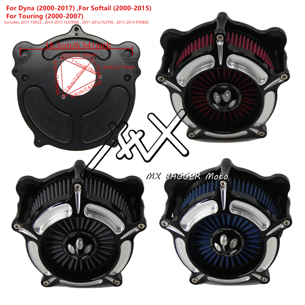 Motorcycle Air Filter CNC Crafts Air Cleaner Intake Filter For Harley Road King Gliding Dyna 2017
