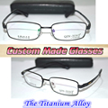 Custom made Reading glasses Mg al titanium alloy semi-rim black +0.5 +0.75 +1.25  +1.75 ++2.25 +2.75 +3.25 +3.75 +4.25 to +6.0