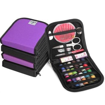 Mini Kit de Costura multifuncional, compacto con cremallera, relleno para viajes, Camping,...