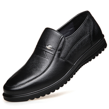 Large Size Men Flats Spring Leather Casual Shoes Loafers Comfortable Quality Split Moccasins DA0137