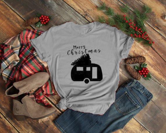 56bae4d5 Merry Christmas T-Shirt Happy Christmas Casual Slogan Christmas Tree Tops  Graphic Christmas Gift Outfits Aesthetic Camisetas