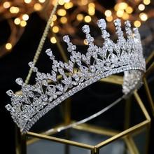 Corona de cristal de alta calidad para niña, accesorios para el cabello de boda para novia, tocado, ceremonia de graduación de cumpleaños