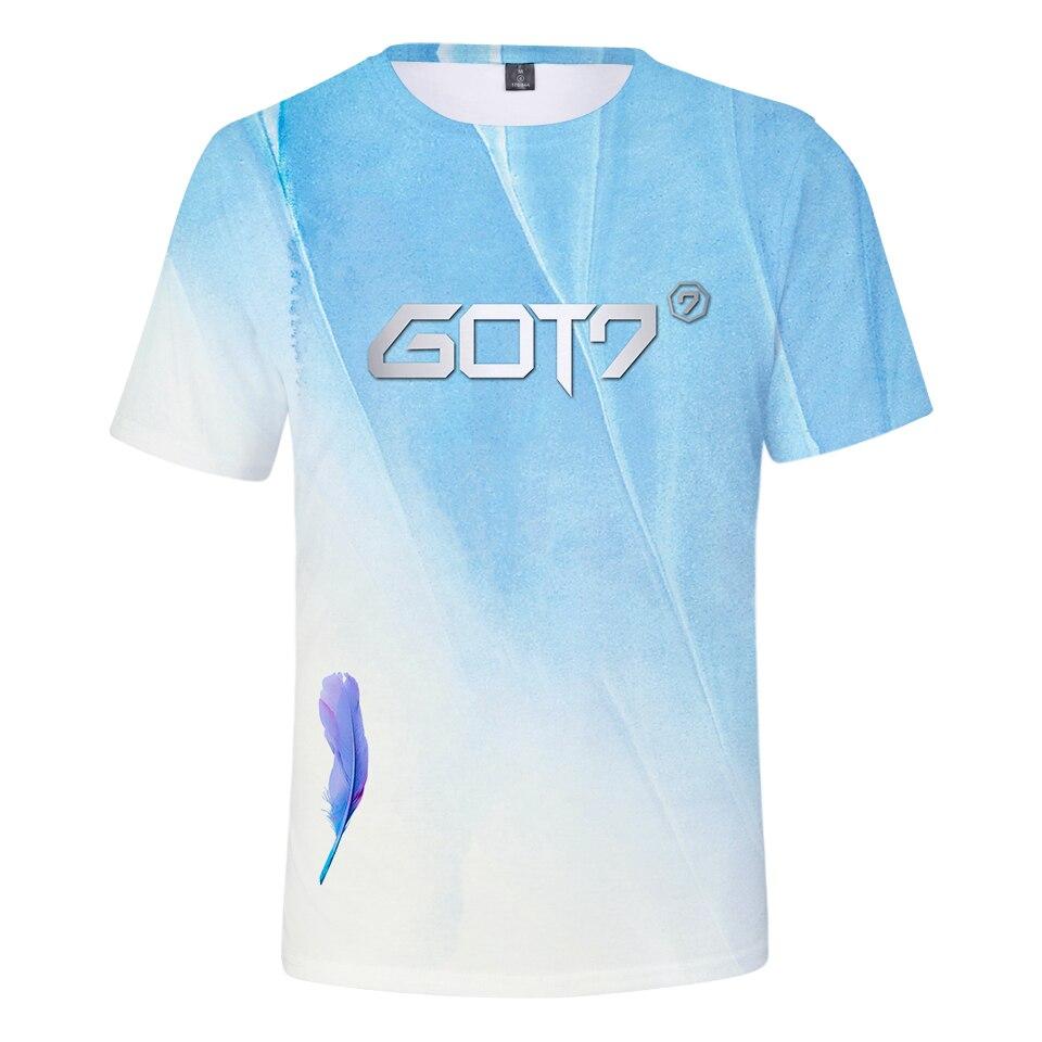 d79a1df1 New Harajuku 3D Tshirt Kpop Got7 Present You Album K Pop Tops Women/men  Short