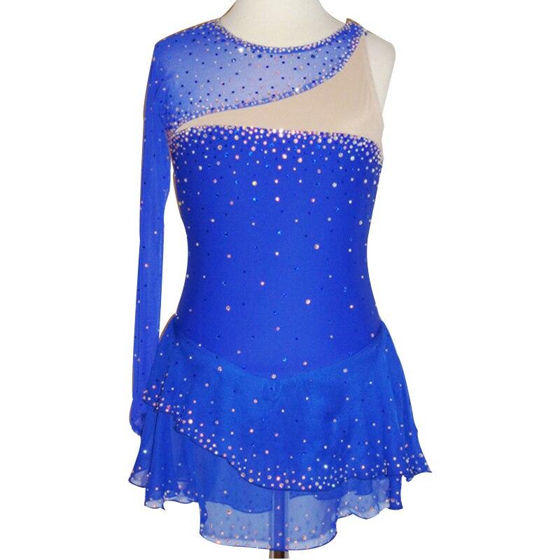 Robe De Patinage De glace Personnalisé Robes De Patinage Artistique Pour Les Femmes De Patinage robe Performance Strass
