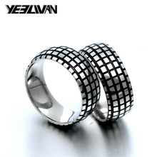 New Vintage Biker Ring 316L Stainless Steel Punk Men's Rings Black Tire Ring for Women Wedding Couple Jewelry Wholesale dmlsky king of rock rings jewelry black silver punk ring for women and mens stainless steel ring couple rings m2816