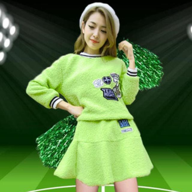 2015 Autumn Winter Free Shipping Sexy School Girl Ladies Glee Cheerleader Costume School Girl Full Outfits Fancy Dress Uniform