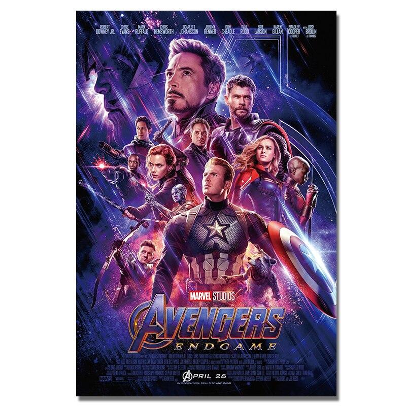 Hot Avengers Endgame Thor Marvel Character Movie Art Poster 12x18 24x36