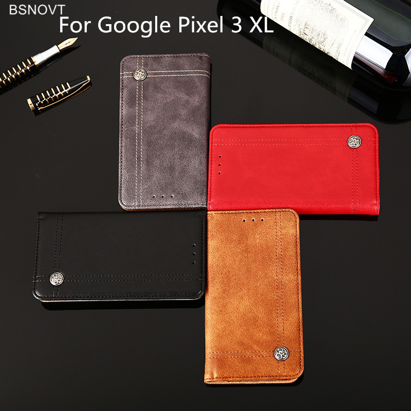 For Google Pixel 3 XL Case Leather Phone Case Cover For Google Pixel 3 XL Phone Cover Silicone Flip Case Capa Shell Capa