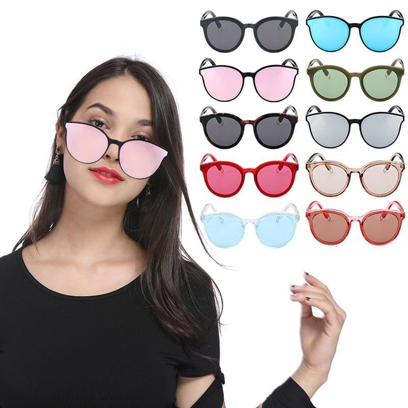 2018 Designer Vintage Sunglasses Woman Semi-endless Retro Sunglasses Round