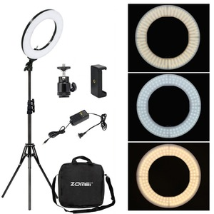 Image 1 - Zomei 調光可能な写真撮影写真スタジオリングライト 3200 5600 18K LED 照明電話アダプタのためのライブ放送ビデオ