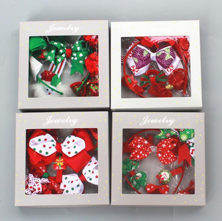 5Set Free Shipping Hair bow Gift Set Christmas Gift Set