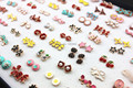 Wholesale lot 100pairs Mixed Style Lovely Alloy Bowknots/Butterfly/Cross/Flower Stud Earrings Girl Women Children's Gift YE115