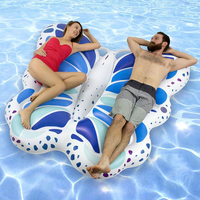 250cm 98inch Giant Angel Wings Inflatable Pool Float Ride on Butterfly Swimming Rings Air Mattress Floating Bed Water Party Toys