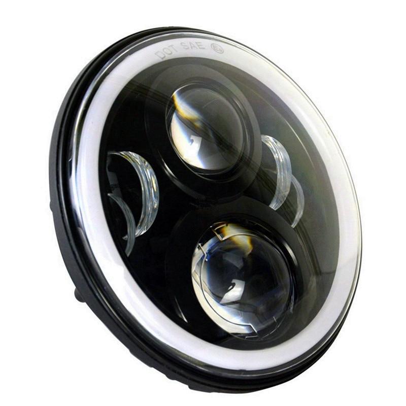 Pair 7 Inch Putaran LED Lampu lampu Halo Angle Mata + Sinyal Untuk - Lampu mobil - Foto 3