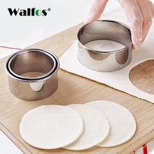 все цены на WALFOS 304 stainless steel cutting machine dumpling mold kitchen maker dumpling skin equipment dough pressing pizza tool онлайн