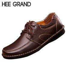 HEE GRAND Men Casual Shoes Spring Soild PU Leather Shoes Man Autumn Lace Up Basic Flats Male Slip On Loafers Size 38-44 XMR565