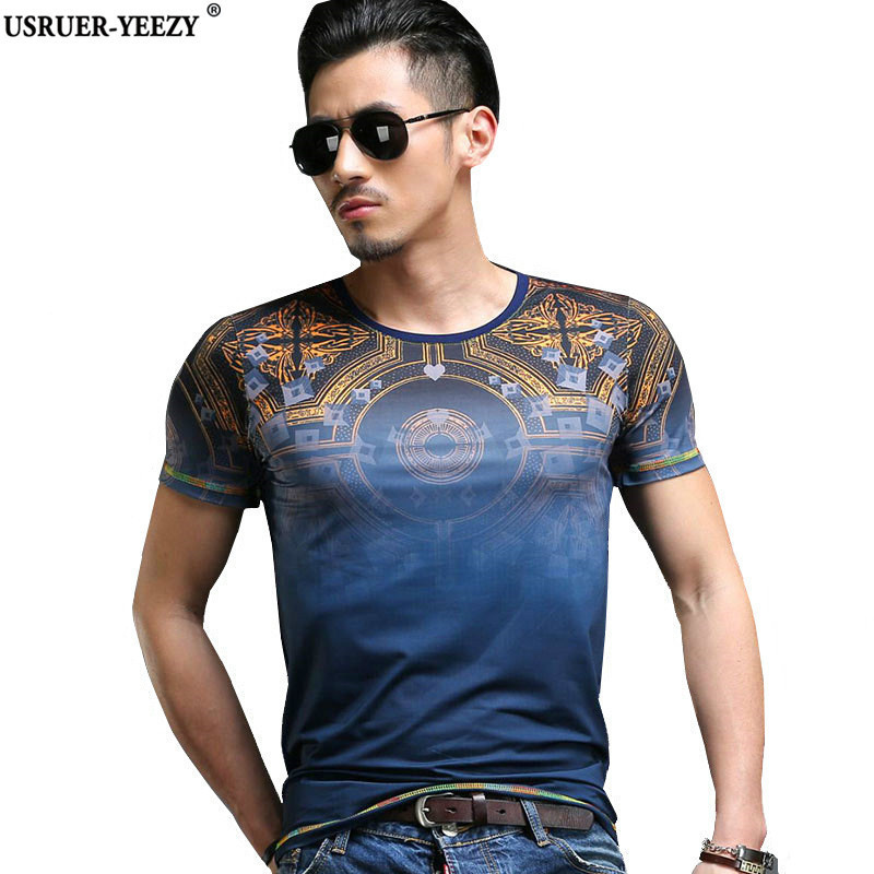 Usruer yeezy new arrival gradient style t shirt men name for T shirt brand name list
